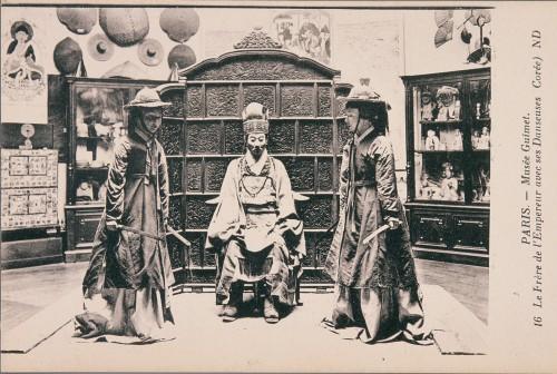 Vue des salles coréennes du musée Guimet au XIXeme siècle © Musée National des Arts asiatiques – Guimet