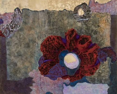 © SHIM Kyung Ja, Karma, 100 X 80,3 cm, encre et couleurs sur hanji, 2012
